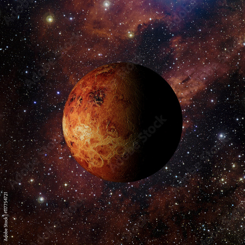 Fotografie, Obraz  Solar system planet Venus on nebula background 3d rendering
