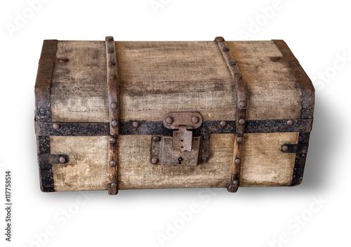 Fotografie, Obraz  isolated old trunk