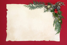 Christmas Abstract Background Border