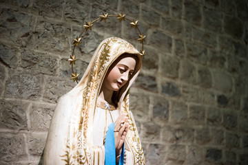 statue of saint Mary in a catholic italian church