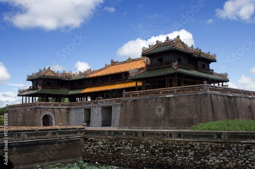Side view on the Hue Imperial Palace in the Imperial City, Hue, Central Vietnam Poster