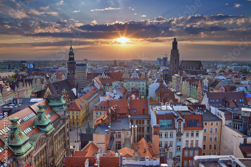 Wroclaw. Image of Wroclaw, Poland during summer sunset.