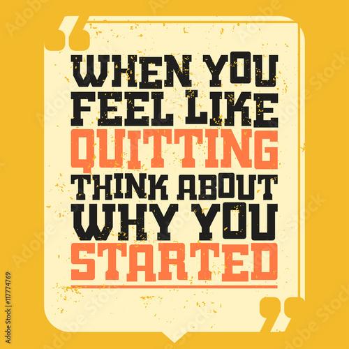 Plakat na zamówienie Motivational Quote Banner