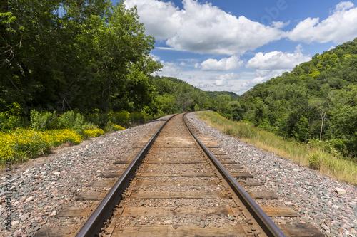 Fotografie, Obraz  Railroad Track Scenic