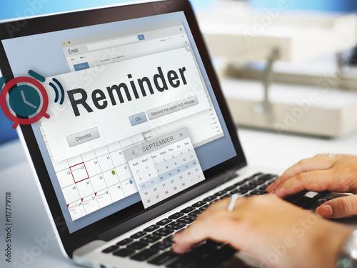 Fotografía  Reminder Planner Calendar Event Concept