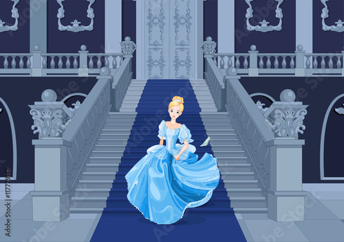 Wall Murals Fairytale World Cinderella Runs Away