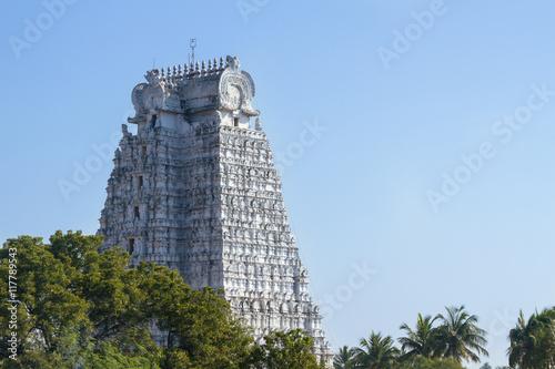 Fotografie, Obraz  The Temple of Ranganatha in Tiruchirappalli (Trichy), Tamil Nadu, India