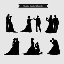 Wedding Couples Silhouettes Co...