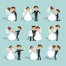 Flat Wedding Couple Collection