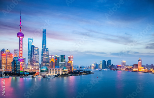 Foto op Aluminium New York beautiful shanghai in nightfall
