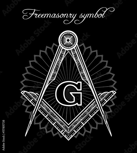 Masonic Symbol Mystical Illuminati Brotherhood Vector Sign Buy