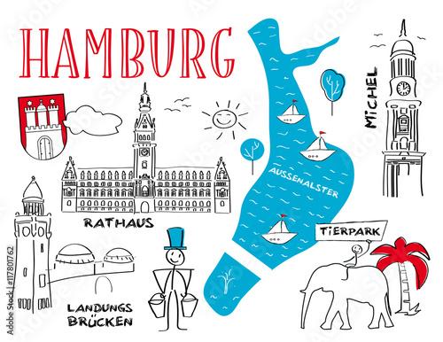 Hansestadt Hamburg Wahrzeichen Sehenswurdigkeiten Buy This Stock