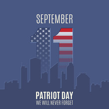 Patriot Day Background With Ab...