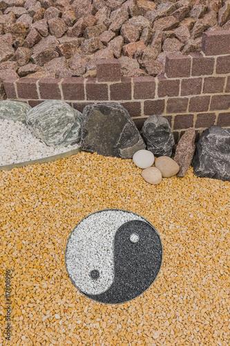 Plakat Ogród skalny z Yin i Yang - Rockery z Yin i Yang