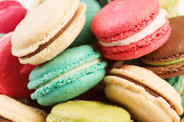 Fototapeta Set of delicious macaroons