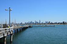 Views Of Port Phillip Bay In Australia - Melbourne, Boats Moored In Port Phillip Bay, Melbourne