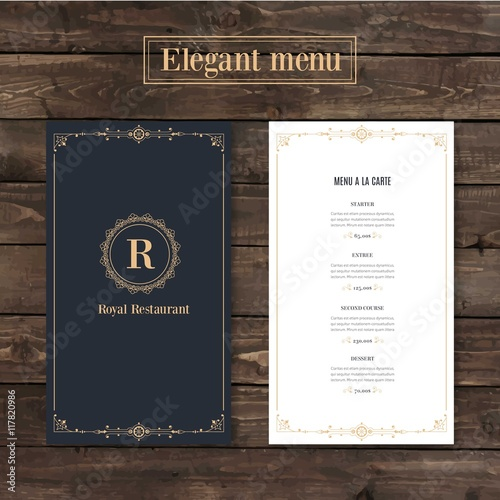 Obraz Classy menu restaurant template - fototapety do salonu
