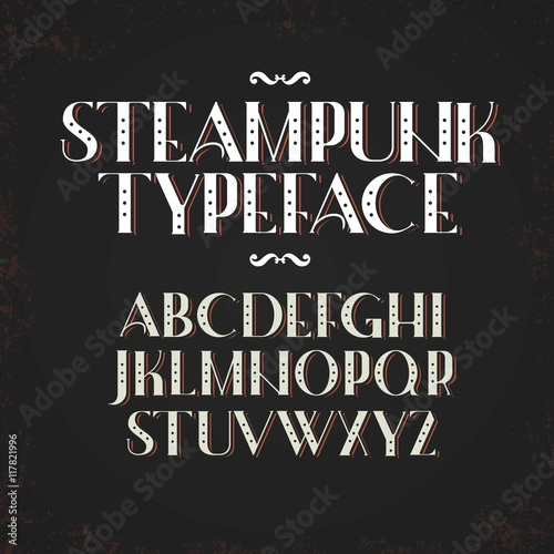 Photo  Alphabet in steampunk style