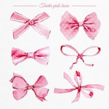 Watercolor Pink Bows