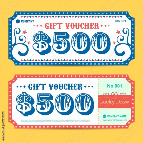 Retro Gift Voucher Buy This Stock Vector And Explore Similar