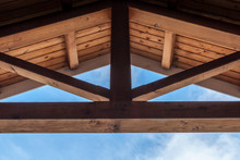 Wooden Beam Ceiling With Symme...