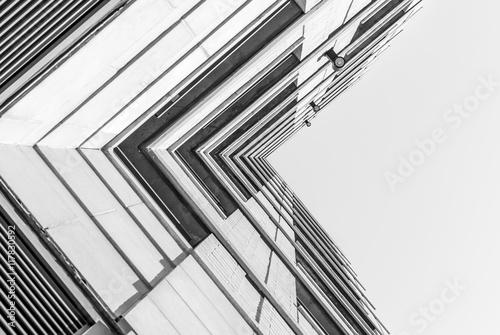 Fotografie, Obraz  Urban Geometry, looking up to building
