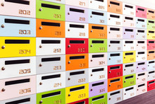 Color Shot Of Some Lockers In ...