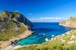 Cala figuera at cap formentor - beautiful coast and beach of Mallorca, Spain