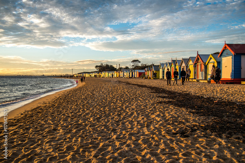 Bathing boxes at Brighton Beach, Melbourne