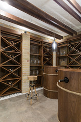 Fototapeta Wine cellar in luxury villa