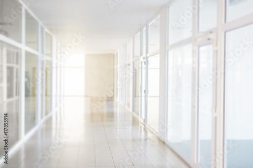 Fotografija Blurry corridor in the business center