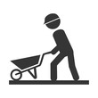worker construction male icon vector illustration