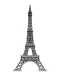 flat design tour eiffel icon vector illustration