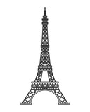 Fototapeta Eiffel Tower - flat design tour eiffel icon vector illustration
