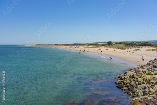 Foto op Aluminium Strand The warm and Azure waters of Studland Peninsula in Poole, Dorset