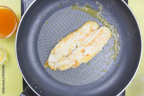 Photo  cooking dory fish Steak