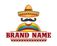 Vector Of Sombrero And Mustache, Perfect For Mexican Restaurant Logo