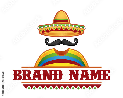 Vector of sombrero and mustache 7b60d03ec66