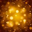 Golden bokeh lights defocused.