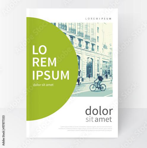 Fotografía  Modern Minimalistic White & green cover Brochure design