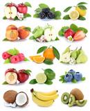 Früchte Apfel Orange Beeren Banane Orangen Erdbeere frisch Obst