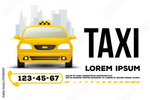 taxi car banner poster template Fototapeta