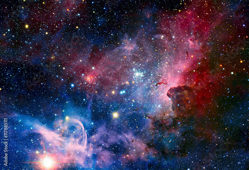 Image of the Carina Nebula in infrared light. Poster