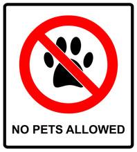 No Pets Icon. Pets Forbidden Vector Illustration