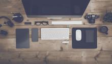 Top View Office Desk