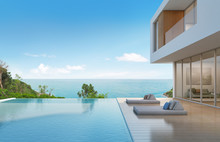 Beach House With Pool In Moder...