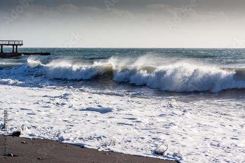 Fotografie, Obraz  Vague Vagues de l'océan