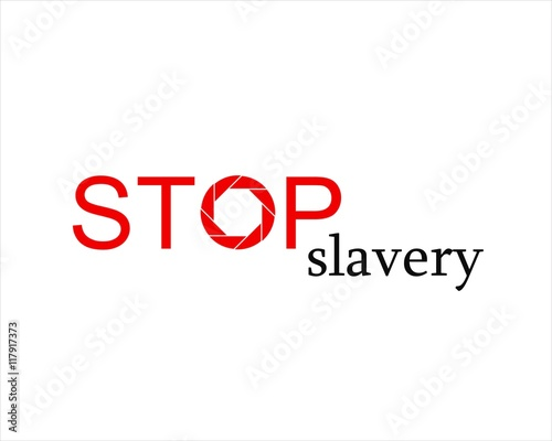 Simple icon stop slavery - Buy this stock vector and explore