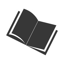 Book Front Open Single Read Education Vector Graphic Icon