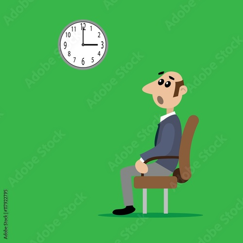 The Person Sitting On The Chair Vector Illustration Of Cartoon Buy